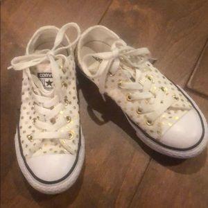 Polka dot Converse sneakers